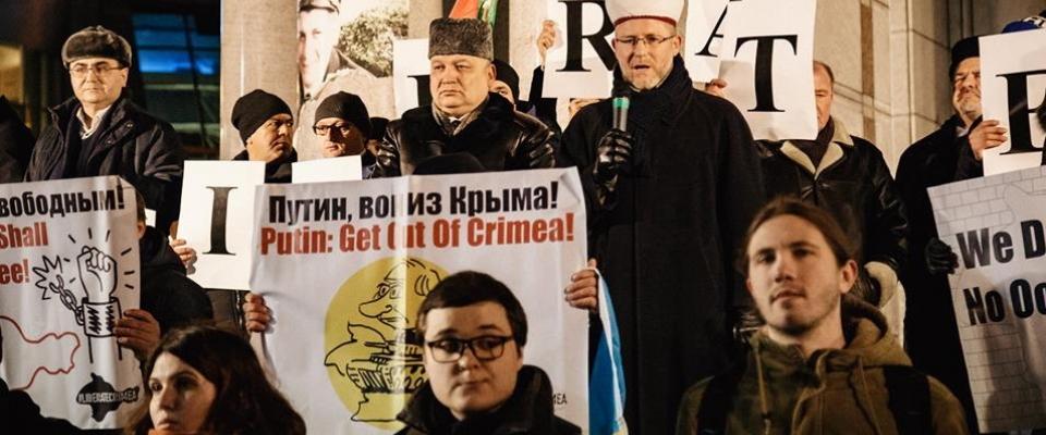 «Україно, пам'ятай: Крим окупований»