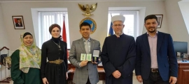 """Indonesian Ambassador Awarded With Medal """"For Devotion to Islam and Ukraine"""""""
